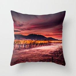 Ripe and Full (Napa Valley; California) Throw Pillow