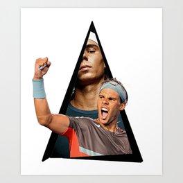 Youtriangle ∆ Rafa Nadal Art Print