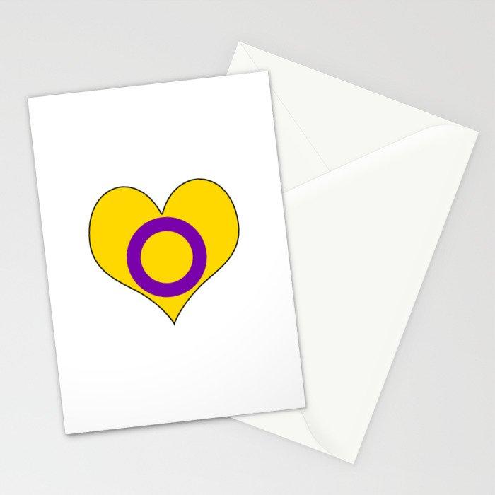 Intersex Heart v2 Stationery Cards