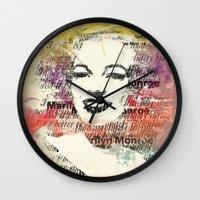 monroe Wall Clocks featuring MONROE by Smart Friend