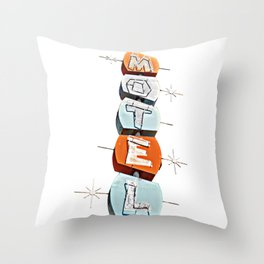 Sue's Motel No. 2 - Just the Sign Throw Pillow