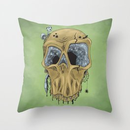 Weathered Skull Throw Pillow