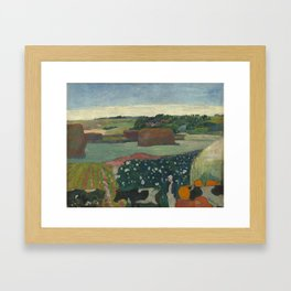 Paul Gauguin - Haystacks in Brittany Framed Art Print
