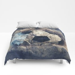 Abstract Grunge Soccer Comforters
