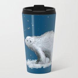 Polar Bear Snowflake Kiss Travel Mug