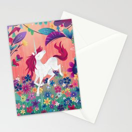 Floral Frolic Unicorn Stationery Cards