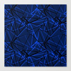 Abstract Black and blue geometric pattern . Canvas Print
