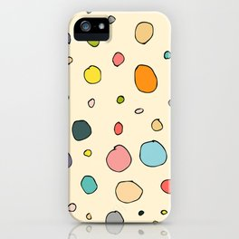 Retro abstract circles iPhone Case