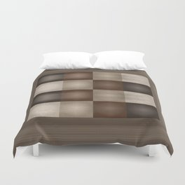 Abstract Earth Tones Duvet Cover