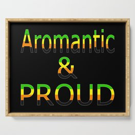 Aromantic and Proud (black bg) Serving Tray