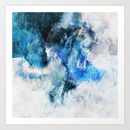 Waves Abstract Painting - Minimalist Seascape Painting Art Print
