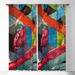 Gorilla & Shapes Blackout Curtain