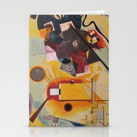 kandinsky Stationery Cards featuring Wassily Study Repro yellow red blue 1925  by Christine baessler