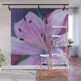 Lily in Lavenders Wall Mural