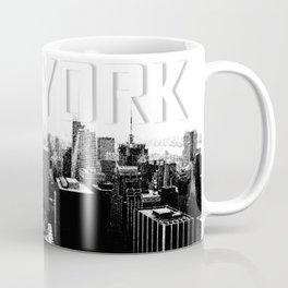 New York Black & White Sketch Coffee Mug