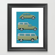 Beetle Camper Framed Art Print