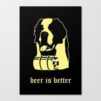 beer Canvas Prints featuring Beer by Andrea Bettin ART