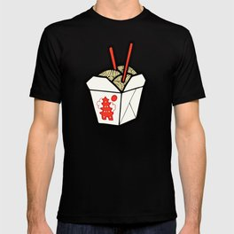 Take-Out Noodles Box Pattern T-shirt