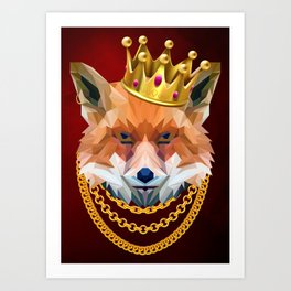 The King of Foxes Art Print
