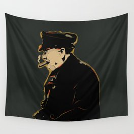 Winston Churchill Pop Art Quote Wall Tapestry