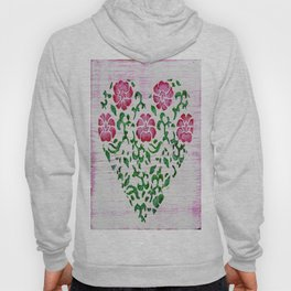 "Rustic ""Rose Heart"" Sign Hoody"