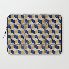 Portuguese tiles pattern Laptop Sleeve