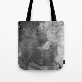 Black watercolor Tote Bag