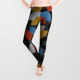 Lovely abstract hand drawn vintage geometric illustration pattern Leggings