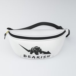 Bearish t shirt a funny stocks bear money present Fanny Pack