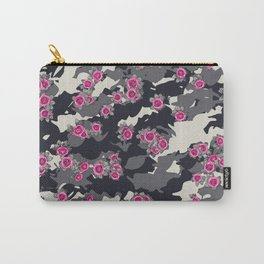 Roses Pink Camo URBAN VINTAGE Carry-All Pouch