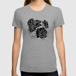 Flower Cluster // Black T-shirt