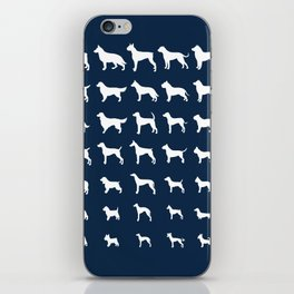 All Dogs (Navy) iPhone Skin