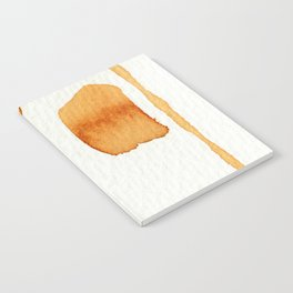 Orange and Green Abstract Art Notebook
