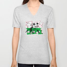 Welsh Rugby by PPereyra Unisex V-Neck