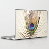 peacock Laptop & iPad Skins featuring Peacock by Laura Ruth
