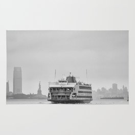 Statue Of Liberty & Ferry Rug