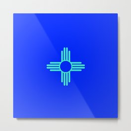 Flag of new mexico  - with inverted colors Metal Print
