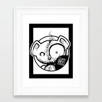 infamous Framed Art Prints featuring Infamous Bear Logo by TobiasGebhardt