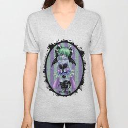 Zombie Cutie Unisex V-Neck