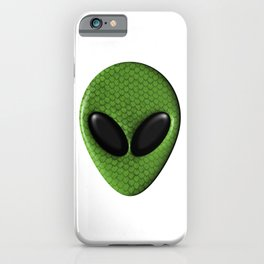 Alien Face With Green Scales iPhone Case