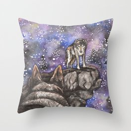 The Silent Howl Throw Pillow