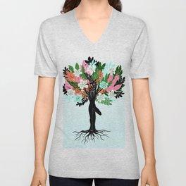 tree pose Unisex V-Neck