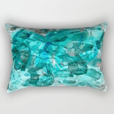Turquoise Glass Chrystal Abstract Rectangular Pillow