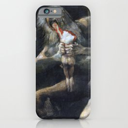 Francisco de Goya - Saturn Devouring His Son 1823 Artwork for Wall Art, Prints, Posters, Tshirts, Men, Women, Youth iPhone Case