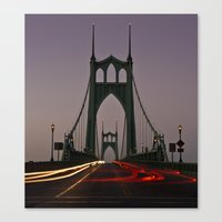 marc johns Canvas Prints featuring St. Johns Bridge III by Cameron Booth