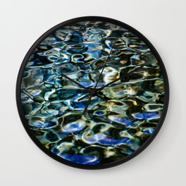 Cool Prismatic Waves on the Yuba Wall Clock