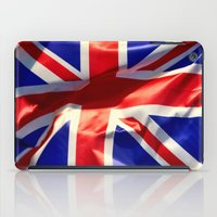 england iPad Cases featuring England Flag by Fine2art