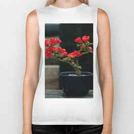 BEAUTIFUL CAMELIA BONSAI Biker Tank