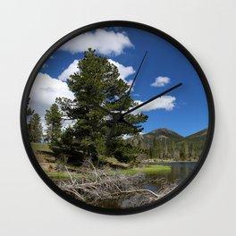 A Rocky Mountian Morning Wall Clock