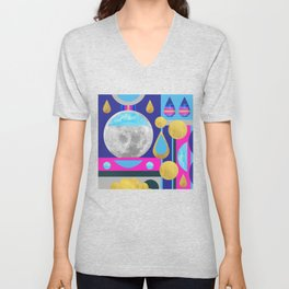 Abstractions No. 3: Moon Unisex V-Neck